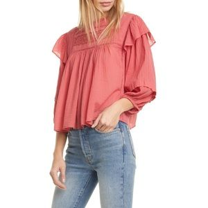 NWT Free People Laura eyelet lace blouse small